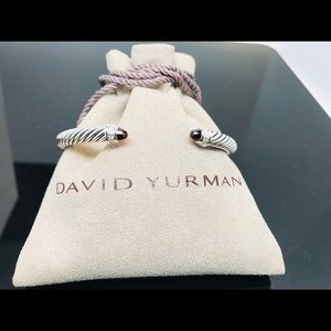 David Yurman Garnet Bracelet with Diamonds 5mm